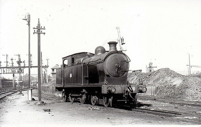 208 - B&CDR 4-4-2T, built 1924 by Beyer Peacock - 1948 to UTA as No.208 - 1953 to store - withdrawn in 1956 - seen here at Belfast Queens Quay in 1950.