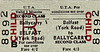 UTA TICKET - BELFAST (York Road) - Second Class Child Three Monthly Return to Ballycarry - fare 4s 2d.