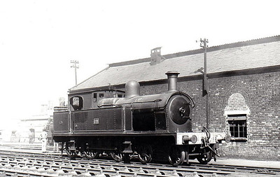 221 - 4-4-2T, built 1921 by Beyer Peacock as Belfast & County Down Railway No.21 - 1948 to UTA No.221 - 1950 to store - withdrawn 1956 - seen here at Belfast Queens Quay in 1950.