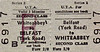 UTA TICKET - BELFAST (York Road) - Second Class Three Monthly Return to Whiteabbey - fare 2s 9d.