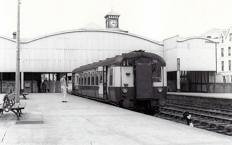Railcar No.63 - one of 3 Class MPD single-car, double-ended railcars, built between 1957 and 1962 in the UTA Workshops, York Road, for services on ex-NCC lines - withdrawn 1981.