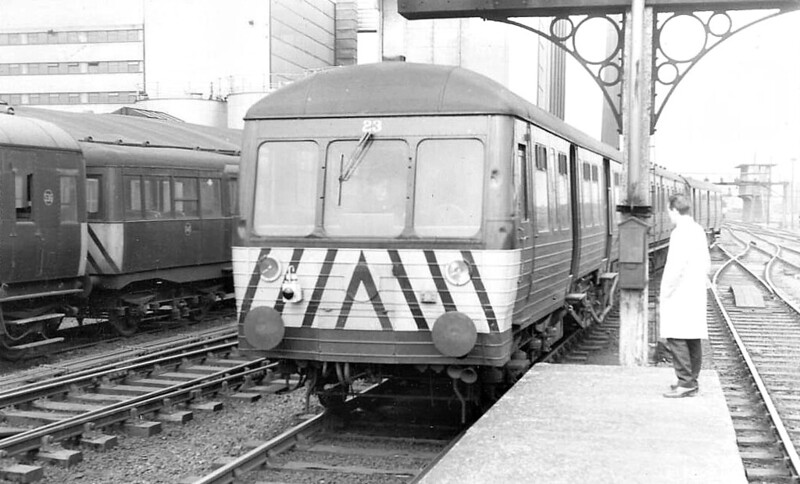 Railcar No.23 - Class MED railcar, 28 built from 1952 (numbered 8 to 35), used in pairs with one or two trailers between them on local services - all withdrawn between 1973 and 1978.