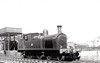 218 - B&CDR 4-4-2T, built 1921 by Beyer Peacock - 1948 to UTA - 1951 to store - 1956 withdrawn - seen here at Belfast Queens Quay in 1950.