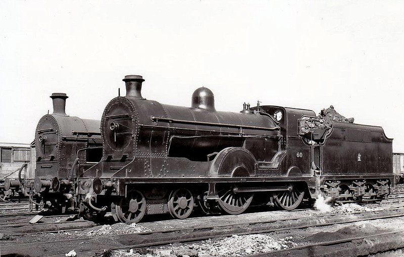 60 SLIEVE DONARD - GNR(I) Class S 4-4-0 - built 1913 by Beyer Peacock as GNR(I) No.172 SLIEVE DONARD - 1938 rebuilt - 1958 to UTA as No.60 - withdrawn 1965.