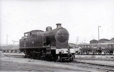 223 - B&CDR 4-6-4T, built 1920 by Beyer Peacock - 1948 to UTA as No.223 - 1952 to store - withdrawn 1956 - seen here at Belfast Queens Quay in 1950.