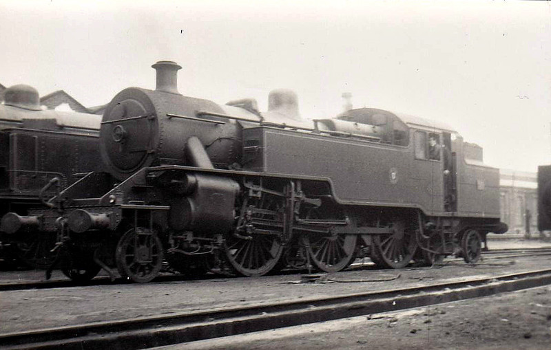 50 - Class WT 2-6-4T, built 1949 by Derby Works - 1968 to NIR - withdrawn 1970 - seen here at Belfast Queens Quay, 06/52.