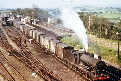 32 - Glover GNRI Class SG3 0-6-0 - built 1920 by Beyer Peacock & Co., Works No.6043, as GNRI No.13 - 1958 to UTA as No.32 - 1965 withdrawn - seen here at Goraghwood in 1963.
