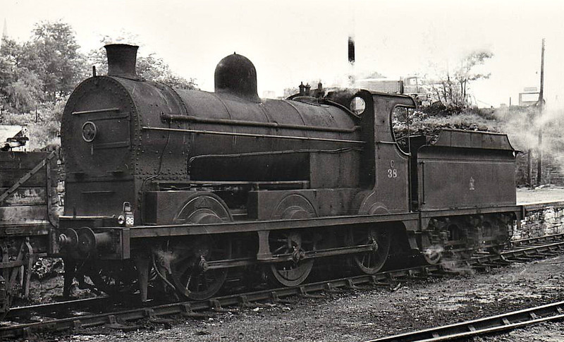 38 - GNR(I) Class SG2 0-6-0 - built 1925 by Nasmyth Wilson as GNR(I) No.16 - 1958 to UTA as No.38 - withdrawn 1965 - seen here Omagh 06/64.