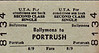 UTA TICKET - BALLYMENA - Second Class Single to Portrush - fare 8s 9d.