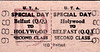 UTA TICKET - HOLYWOOD - Second Class Special Day Return to Belfast Queen's Quay.