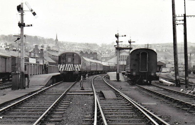 Railcar No.57 - 27 Class MPD Power Cars built between 1957 and 1962 for services over ex-NCC lines and to Londonderry - seen here at Londonderry.