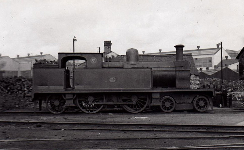 215 - 4-4-2 built in 1901 by Beyer Peacock as Belfast & County Down Railways No.15 - 1928 rebuilt with Belpaire boiler - 1948 to UTA as No.215 - 1952 to store, 1956 withdrawn.