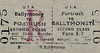UTA TICKET - PORTRUSH - Second Class Three Monthly Return to Ballymoney, fare 5s 7d.