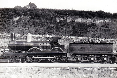 WATERFORD, LIMERICK & WESTERN RAILWAY - 47 CARRICK CASTLE - Robinson WL&WR 2-4-0 - built 1894 by Dubs & Co., Works No.3109 - 1901 to GSWR as Class 263 No.292 - 1915 withdrawn.