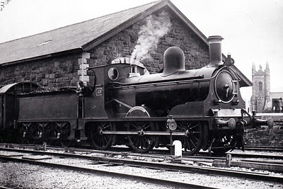 WATERFORD, LIMERICK & WESTERN RAILWAY - 49 DREADNOUGHT - 0-6-0 - built 1895 by Dubs & Co., Works No.3222 - 1925 to GSR as Class J22 No.235 - 1928 withdrawn  - seen here at Tralee.