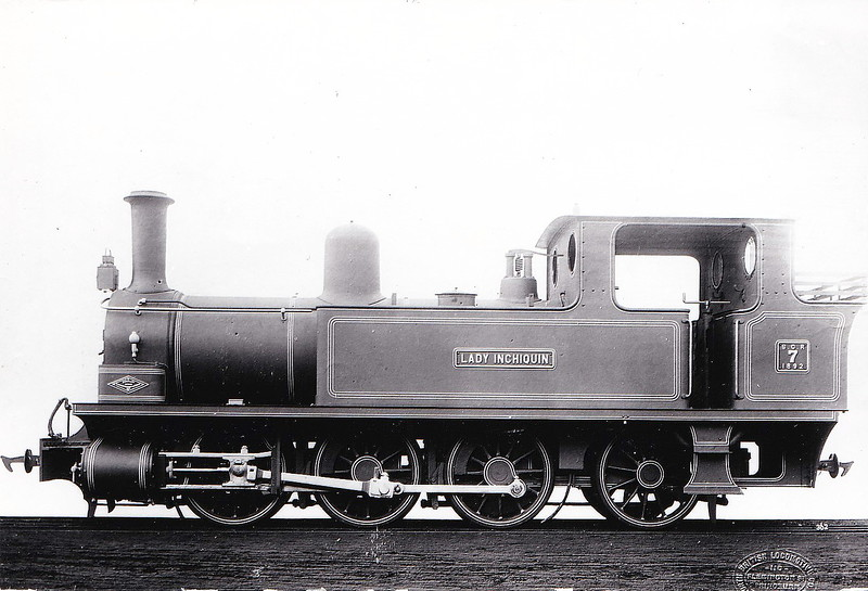 No.7 LADY INCHIQUIN - 0-6-2T - built 1892 by Dubs & Co., Works No.2892 - 1922 withdrawn - nominally owned by South Clare Railway.