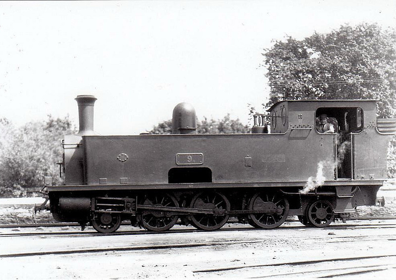 No.9c FERGUS - 2-6-2T, built 1898 by Tim Green & Co., Works No.229, as WCR No.9 - 1925 to GSR as No.9c, 1945 to CIE - withdrawn 1954 - seen here at Ennis in 1932.