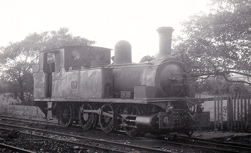 No.6c - 0-6-2T, built 1892 by Dubs & Co., Works No.2891, as WCR No.6 SAINT SENAN - 1925 to GSR as No.6c, 1945 to CIE - withdrawn 1956 - seen here at Ennis - note mixed gauge track.