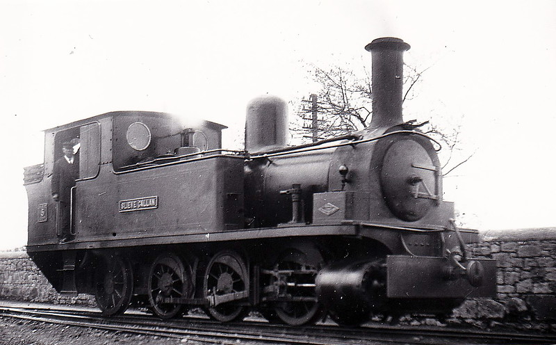 No.5 SLIEVE CALLAN - 0-6-2T, built 1892 by Dubs & Co., Works No.2890 - 1925 to GSR as No.5c, 1945 to CIE - withdrawn 1959 - seen here at Ennis in May 1920 - nominally owned by South Clare Railway.