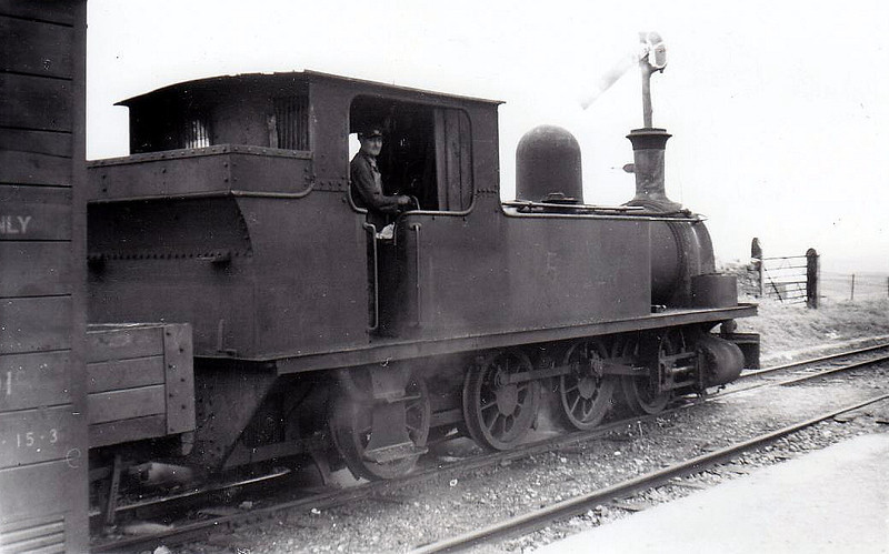 No.5c - 0-6-2T, built 1892 by Dubs & Co., Works No.2890, as WCR No.5 SLIEVE CALLAN - 1925 to GSR as No.5c, 1945 to CIE - withdrawn 1959 - seen here at Lahinch, 09/55 - nominally owned by South Clare Railway.