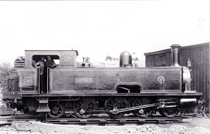 No.4 LISCANNOR - 2-6-2T, built 1901 by Tim Green & Co., Works No.236, as WCR No.4 - 1925 to GSR as No.4c - withdrawn 1928.