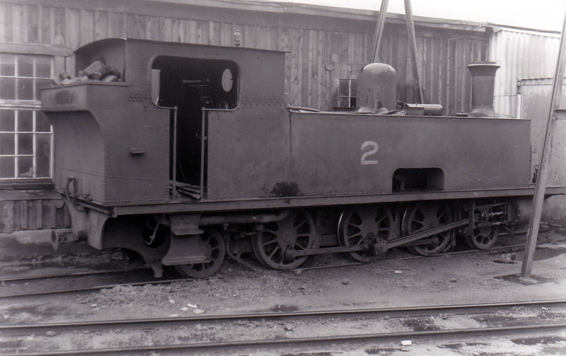 No.2 ENNIS -  2-6-2T, built 1900 by Tim Green & Co., Works No.234, as WCR No.2 - 1925 to GSR as No.2c, 1945 to CIE - withdrawn 1955 - seen here in June 1955.