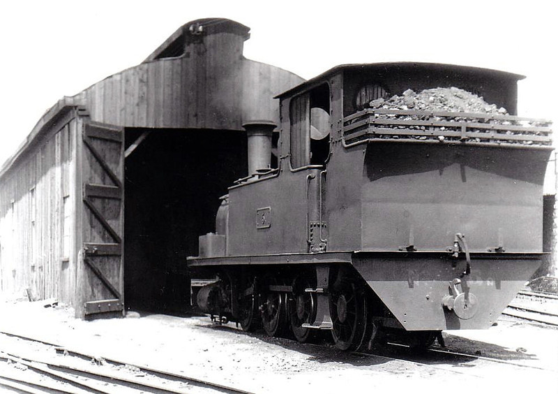 No.5c SLIEVE CALLAN - 0-6-2T, built 1892 by Dubs & Co., Works No.2890, as WCR No.5 - 1925 to GSR as No.5c, 1945 to CIE - withdrawn 1959 - seen here at Ennis in 1932 - nominally owned by South Clare Railway.