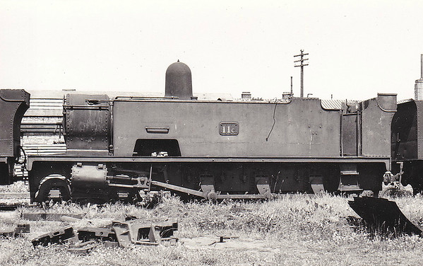 No.11 KILKEE - 4-6-0T - built 1908 by WG Bagnall & Co. - 1925 to GSR as 11C - 1945 to CIE - 1953 withdrawn - seen here at Inchicore, withdrawn, in June 1954.