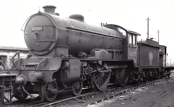 62710 LINCOLNSHIRE - Gresley LNER Class D49 4-4-0 - built 02/28 by Darlington Works as LNER No.245 - 12/46 to LNER No.2710, 10/48 to BR No.62710 - 10/60 withdrawn from 53A Hull Dairycoates - seen here at Darlington, 04/58.