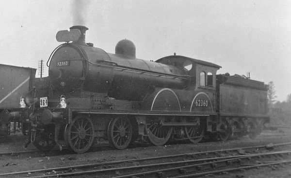 62360 - Worsdell NER Class R LNER Class D20 4-4-0 - built 12/00 by Gateshead Works as NER No.2101 - 1946 to LNER No.2360, 07/52 to BR No.62360 - 10/56 withdrawn from 52D Tweedmouth.