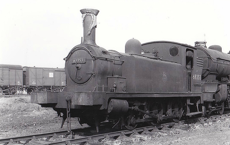 68353 - Reid NBR Class F LNER Class J88 0-6-0T - built 11/19 by Cowlairs Works as NBR No.271 - 11/25 to LNER No.9271, 05/46 to LNER No.8353, 02/51 to BR No.68353 - 02/62 withdrawn from 62A Thornton Junction, where seen.