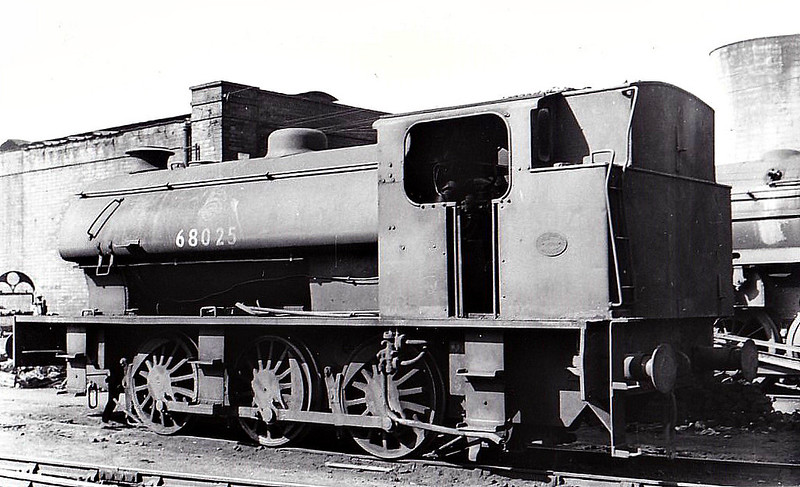 68025 - Riddles WD Austerity 0-6-0ST - built 11/44 by Hudswell Clarke & Co. as WD No.71498 - 06/46 to LNER No.8025, 11/49 to BR No.68025 - 10/63 withdrawn from 51A Darlington.