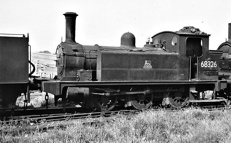 68326 - Reid NBR Class F LNER Class J88 0-6-0T - built 09/05 by Cowlairs Works as NBR No.842 - 03/25 to LNER No.9842, 03/46 to LNER No.8326, 03/51 to BR No.68326 - 10/59 withdrawn from 65F Grangemouth.