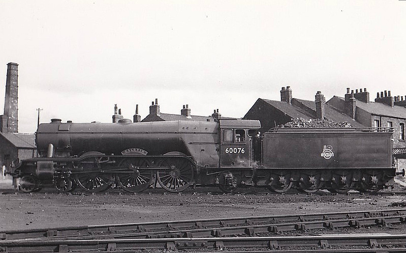 60076 GALOPIN -  Gresley LNER Class A3 4-6-2 - built 10/24 by North British Loco Co. as LNER No.2575 - 09/46 to LNER No.76, 09/48 to BR No.60076 - 10/62 withdrawn from 52B Heaton - seen here at Darlington, 06/52.