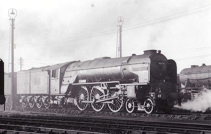 60158 ABERDONIAN - Peppercorn BR Class A1 4-6-2 - built 11/49 by Doncaster Works - 12/64 withdrawn from 36A Doncaster, where seen 05/64.