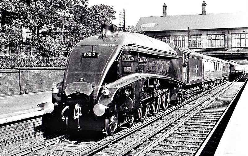 60012 COMMONWEALTH OF AUSTRALIA - Gresley LNER Class A4 4-6-2 - built 06/37 by Doncaster Works as LNER No.4491 - 01/47 to LNER No.12, 05/48 to BR No.60012 - 08/64 withdrawn from 61A Aberdeen Ferryhill - seen here at Heaton.