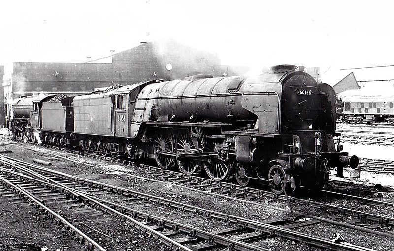 60156 GREAT CENTRAL - Peppercorn BR Class A1 4-6-2 - built 10/49 by Doncaster Works - 05/65 withdrawn from 50A York - seen here at Gateshead, 07/64 - note nameplates removed.