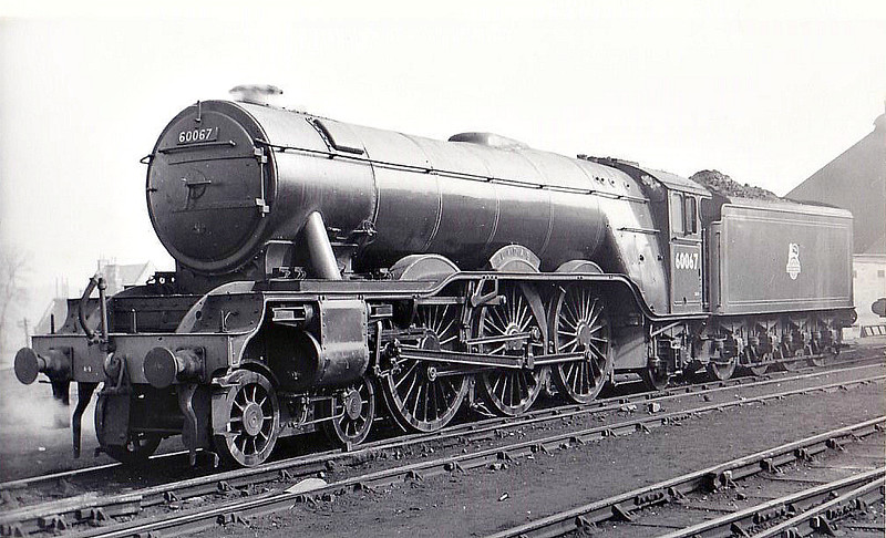 60067 LADAS - Gresley LNER Class A3 4-6-2 - built 08/24 by North British Loco Co. as LNER No.2566 - 10/46 to LNER No.67, 07/48 to BR No.60067 - 12/62 withdrawn from 34A Kings Cross - seen here at Haymarket, 05/50.