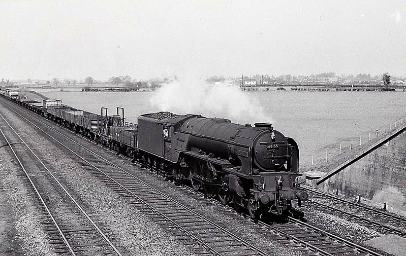 60155 BORDERER - Peppercorn BR Class A1 4-6-2 - built 09/49 .by Doncaster Works - 10/65 withdrawn from 50A York North - seen here at Beningborough.