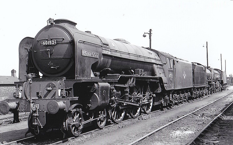 60152 HOLYROOD - Peppercorn Class A1 4-6-2 - built 07/49 by Darlington Works - 06/65 withdrawn from 50A York North - seen here at York, 05/64.
