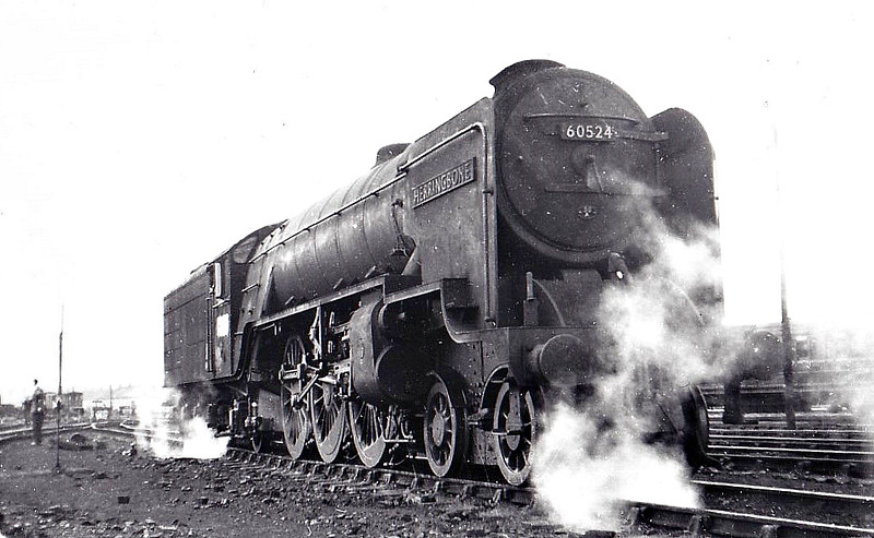 60524 HERRINGBONE - Peppercorn LNER Class A2 4-6-2 - built 09/47 by Doncaster Works as BR No.524 - 01/49 to BR No.60524 - 02/65 withdrawn from 66A Polmadie.