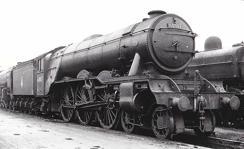 60087 BLENHEIM - Gresley LNER Class A3 4-6-2 - built 06/30 by Doncaster Works as LNER No.2598 - 10/46 to LNER No.87, 10/48 to BR No.60087 - 10/63 withdrawn from 64A St Margarets - seen here at Doncaster Works, 11/57.
