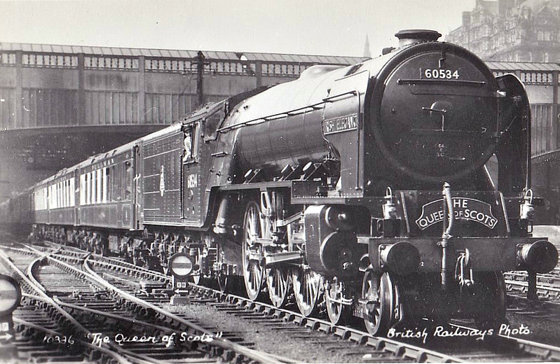 60534 IRISH ELEGANCE - Peppercorn LNER Class A2 4-6-2 - built 04/48 by Doncaster Works - 12/62 withdrawn from 64A St Margarets.