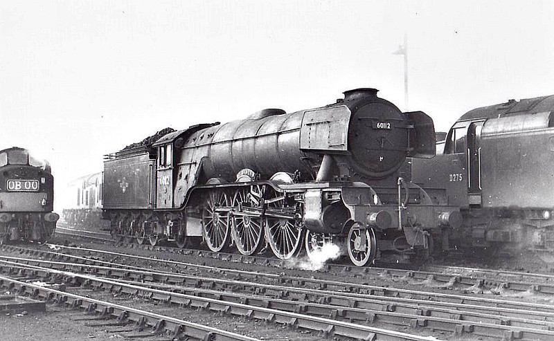 60112 ST SIMON - Gresley LNER Class A3 4-6-2 - built 09/23 by Doncaster Works as GNR No.1481 - 08/25 to LNER No.4481, 05/46 to LNER No.112, 01/48 to BR No.60112 - 12/64 withdrawn from 34E New England.