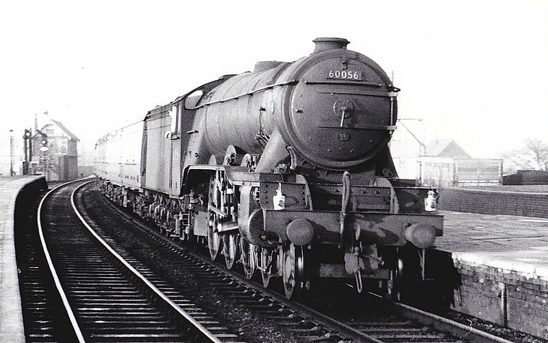 60056 CENTENARY - Gresley LNER Class A3 4-6-2 - built 02/25 by Doncaster Works as LNER No.2555 - 07/46 to LNER No.56, 05/49 to BR No.60056 - 05/63 withdrawn from 35B Grantham, where seen 12/55.