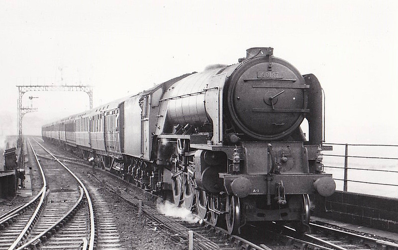 60147 NORTH EASTERN - Peppercorn BR Class A1 4-6-2 - built 04/49 .by Darlington Works - 08/64 withdrawn from 50A York.