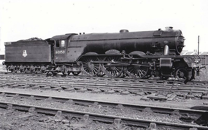60050 PERSIMMON - Gresley LNER Class A3 4-6-2 - built 10/24 by Doncaster Works as LNER No.2549 - 07/46 to LNER No.50, 08/48 to BR No.60050 - 09/63 withdrawn from 34E New England - seen here at Neasden, 04/56.
