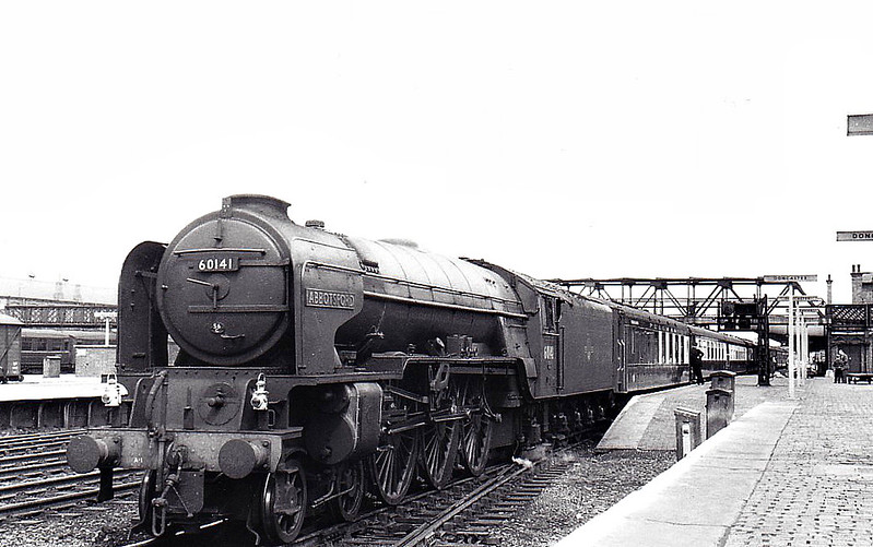 60141 ABBOTSFORD - Peppercorn Class A1 4-6-2 - built 12/48 by Doncaster Works - 10/64 withdrawn from 50A York North - seen here at Doncaster.