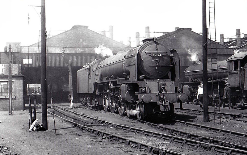 60124 KENILWORTH - Peppercorn Class A1 4-6-2 - built 03/49 by Doncaster Works - 03/66 withdrawn from 51A Darlington - seen here at Doncaster, 06/63.