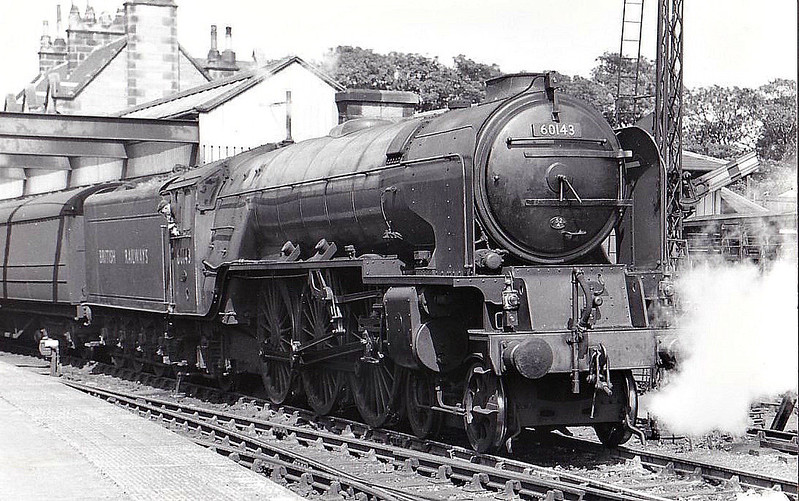 60143 SIR WALTER SCOTT - Peppercorn Class A1 4-6-2 - built 02/49 by Doncaster Works - 05/64 withdrawn from 50A York North - seen here at Dunbar, so new that the nameplates had not yet been fitted!